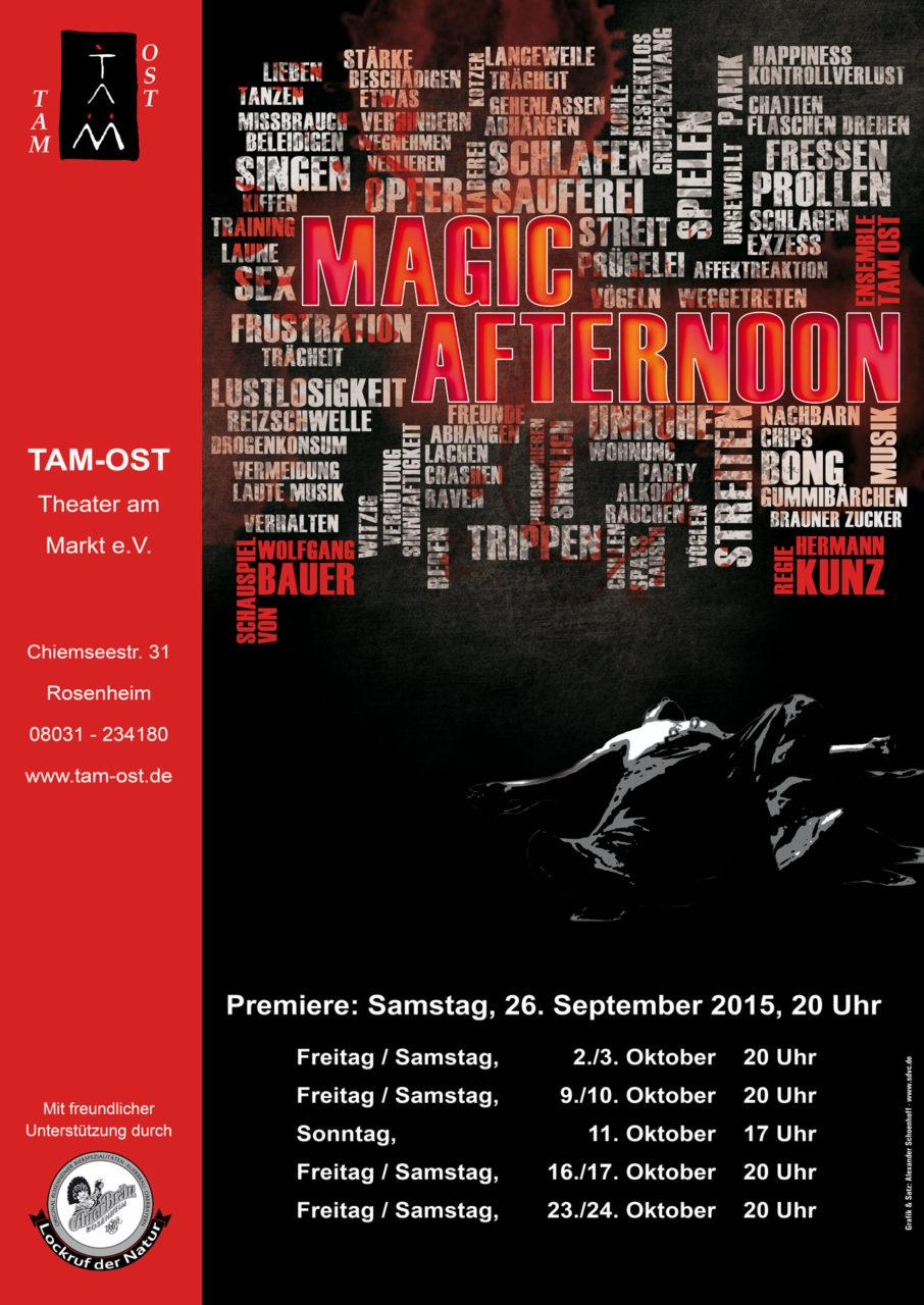 2015 - Plakat - MAGIC AFTERNOON, Bild: Alexander Schoenhoff